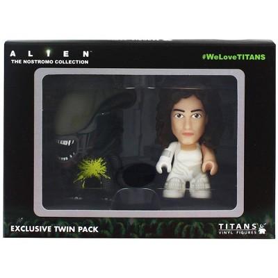 """Nerd Block Alien Titan 3"""" Vinyl Figure 2-Pack: Pre-Suit Ripley & Acid Alien"""