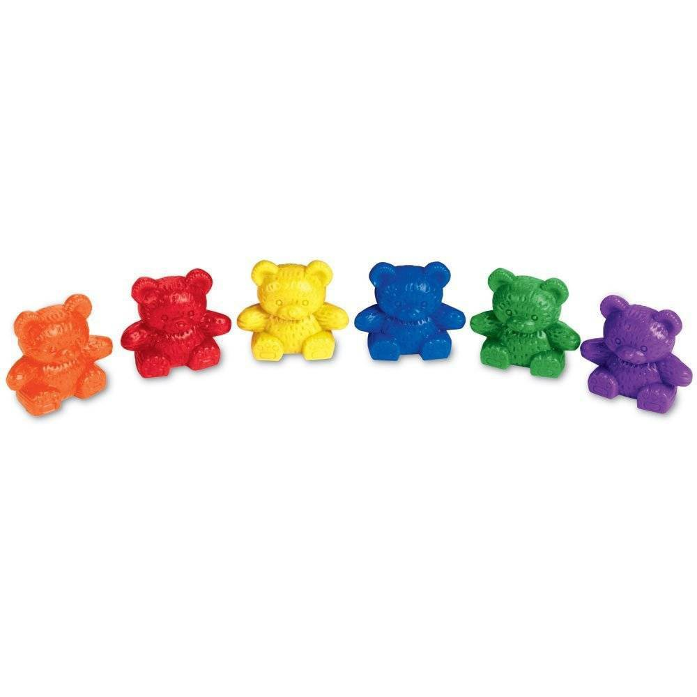 Learning Resources Baby Bear Counters 6 Colors Set Of 102