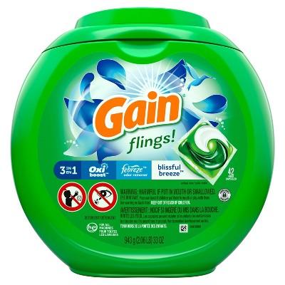 Gain Flings! Laundry Detergent Pacs - Blissful Breeze