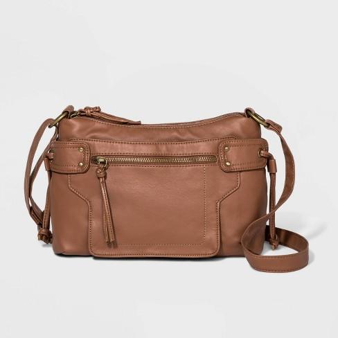 Bueno Zip Closure Crossbody Bag - Tan - image 1 of 4