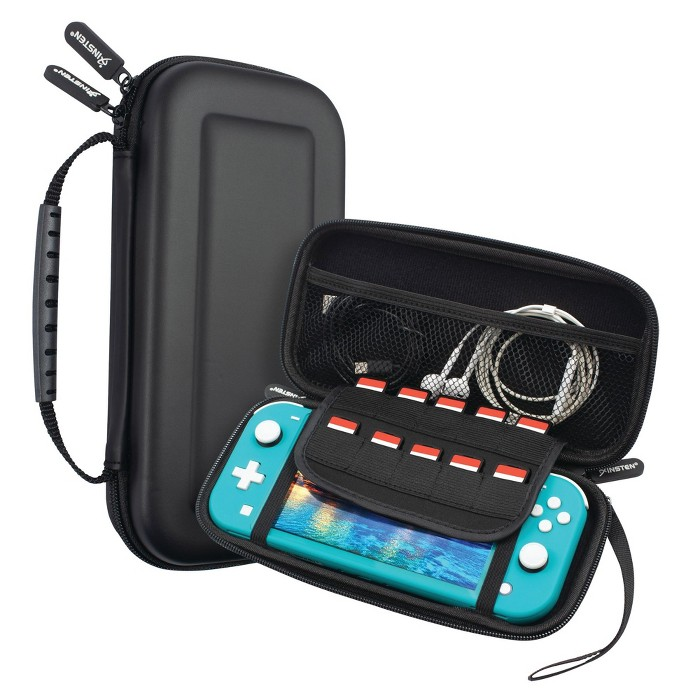 Insten For Nintendo Switch Lite Carrying Case - Portable Hard Shell Travel Pouch With Hand Strap, Black : Target