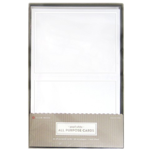 Blank all occasions greeting cards with envelopes 50ct white about this item m4hsunfo