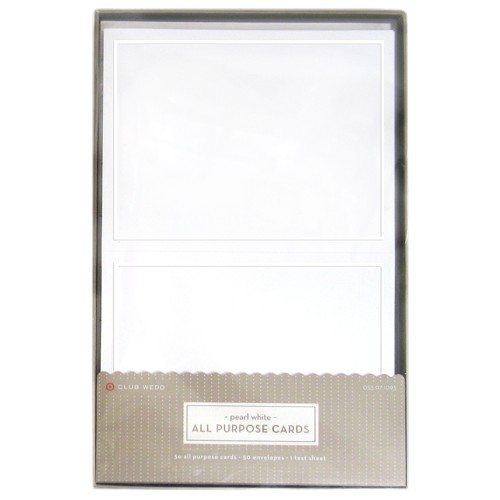 Blank All Occasions Greeting Cards with Envelopes (50ct) - White
