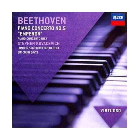 Stephen Kovacevich - Virtuoso: Beethoven- Piano Concerto No. 5 Emperor/Piano Concerto No. 4 (CD) - image 1 of 1