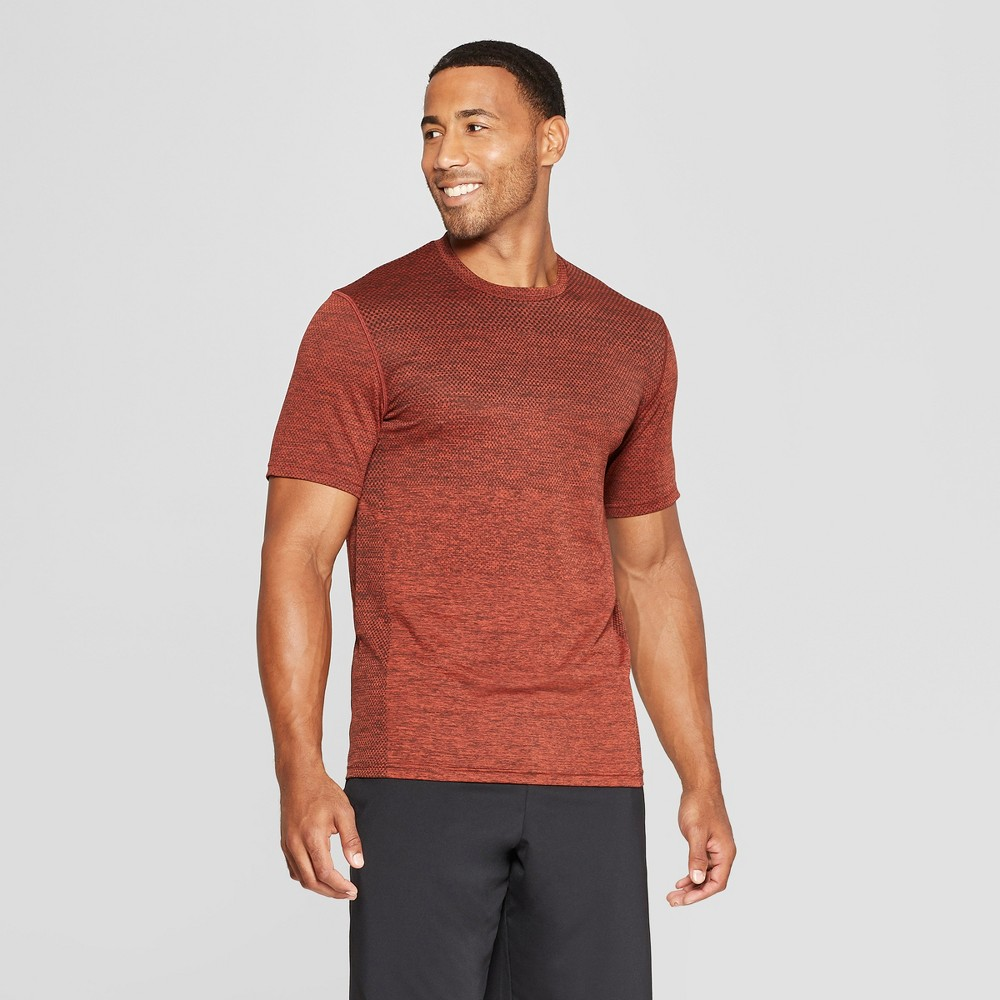 Men's Short Sleeve Jacquard Training T-Shirt - C9 Champion Red Clay Heather L