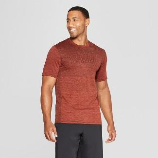 Men's Short Sleeve Jacquard Training T-Shirt - C9 Champion® Red Clay Heather S