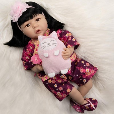 Paradise Galleries Realistic Toddler Doll-Kiko & Suki, 21 inch in SoftTouch Vinyl, 8-Piece Reborn Doll Gift Set