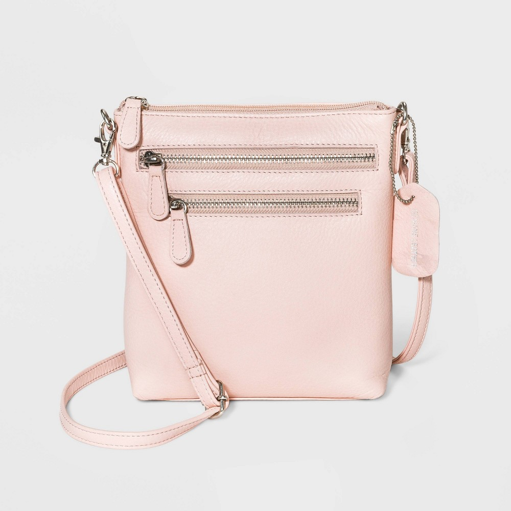 Image of Great American Leather Mini Crossbody Bag - Pink