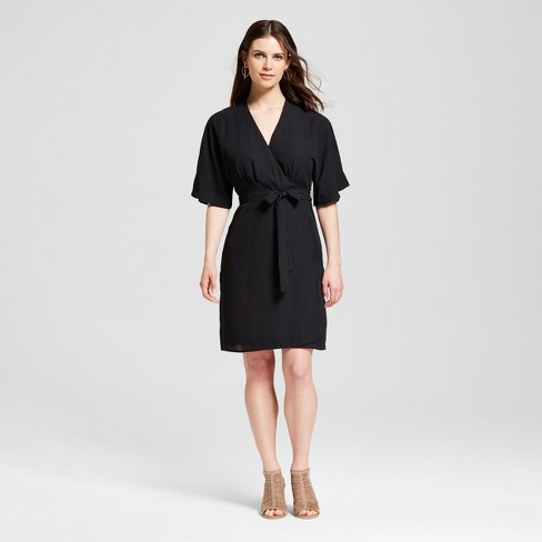 Womens Kimono Sleeve Wrap Dress Sp By Standards And Practices