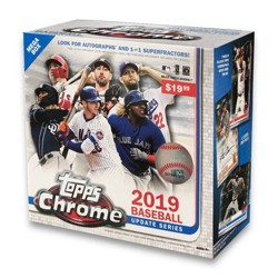 2019 MLB Chrome Update Holiday Mega Box TGT