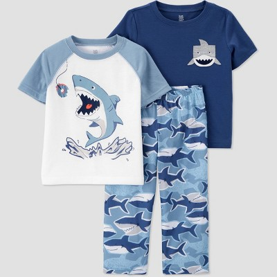 Toddler Boys' 3pc Poly Shark Pajama Set - Just One You® made by carter's Blue
