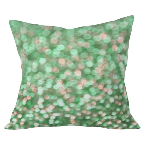 "Gumdrop Green Throw Pillow (20""x20"") - Deny Designs® - image 1 of 2"