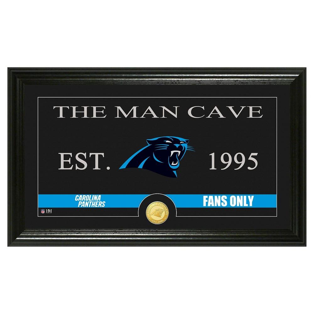 The Highland Mint NFL Man Cave Framed Wall Poster Print Carolina Panthers