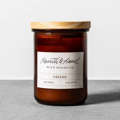 8oz Lidded Jar Candle Fireside - Hearth & Hand™ with Magnolia