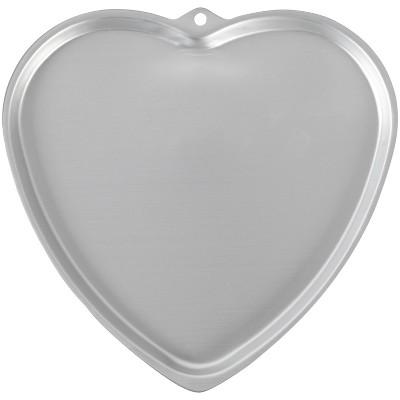 "Wilton 12.2"" x 12.5"" Metal Non-Stick Heart Shaped Cookie Pan"