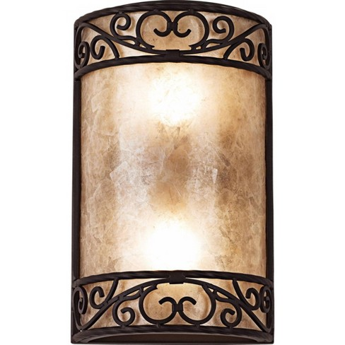 """John Timberland Rustic Wall Light Iron Scroll 12 1/2"""" Curved Sconce Fixture for Bathroom Bedroom - image 1 of 4"""