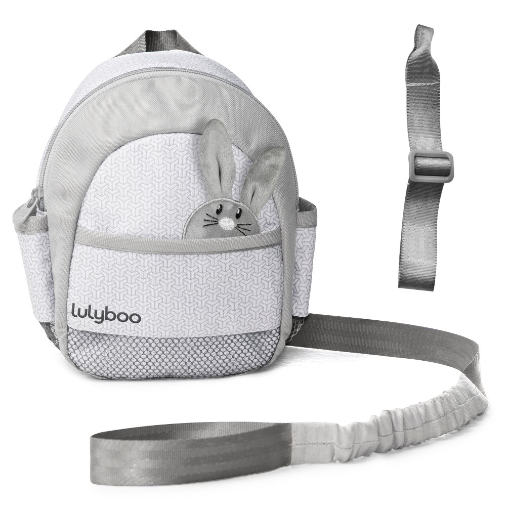 Image of Lulyboo Toddler Safety Harness Backpack with Detachable Wrist Tether, Gray