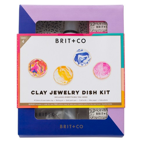 Brit + Co® Clay Jewelry Dish Kit - Makes 4 - image 1 of 6