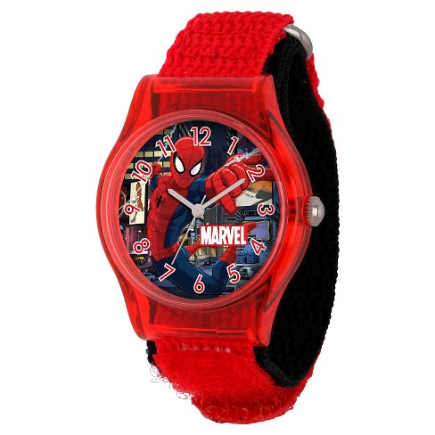 Boys' Marvel Spider-Man Plastic Watch - Red - image 1 of 2