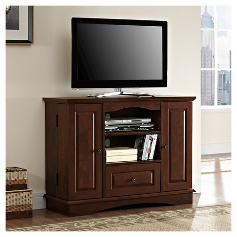 "Saracina Home 42"" Highboy Wood TV Media Stand Storage Console - image 1 of 3"