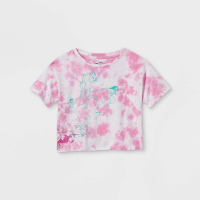 Girls' Disney Raya Cropped Short Sleeve Graphic T-Shirt - Pink