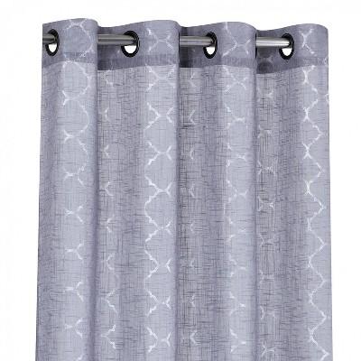 Kate Aurora Living 2 Pack Shabby Metallic Trellis Pastel Sheer Grommet Curtains