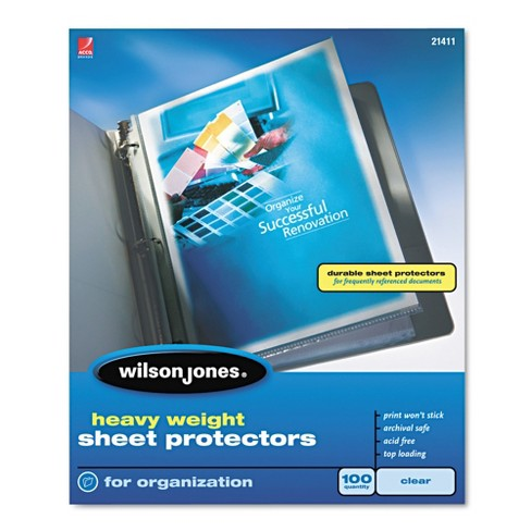 Wilson Jones Heavy Weight Sheet Protector - Clear (100 Per Box) - image 1 of 1