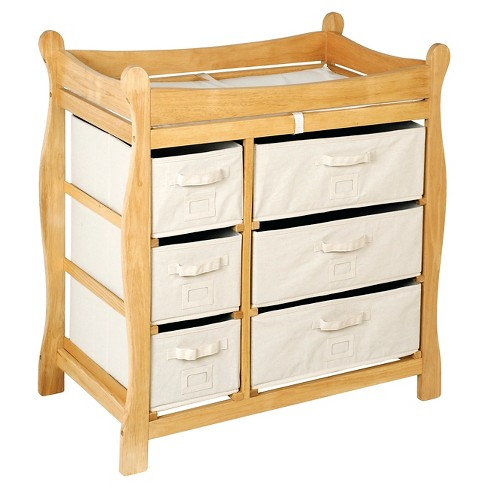 Badger Basket Baby Changing Table Natural