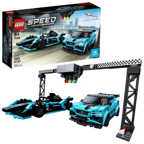 LEGO Speed Champions Formula E Panasonic Jaguar Racing Gen2 car and Jaguar I-PACE eTROPHY 76898 - image 1 of 4