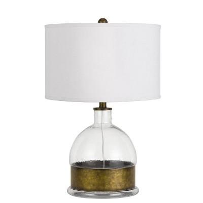 "24.75"" Glass/Metal Rapallo Table Lamp Clear - Cal Lighting"