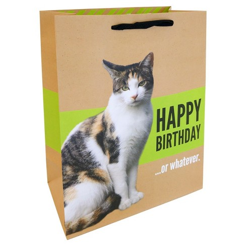 Happy Brithday Cat Gift Bag