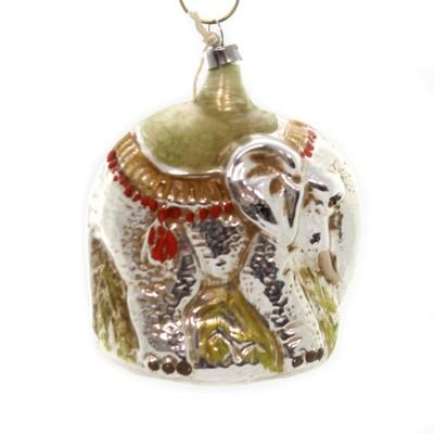 "Marolin 3.0"" Elephant Vintage Looking Ornament Feather Tree Germany  -  Tree Ornaments"