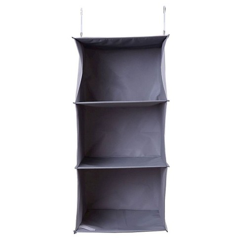 3 Shelf Hanging Closet Organizer Gray Room Essentials Target