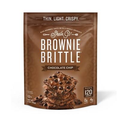 Sheila G's Brownie Brittle, Chocolate Chip, Thin & Crunchy Cookies - 5oz