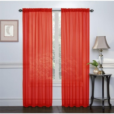 GoodGram 2 Pack: Halloween Themed Sheer Curtains by Regal Home Collections - Asst. Colors