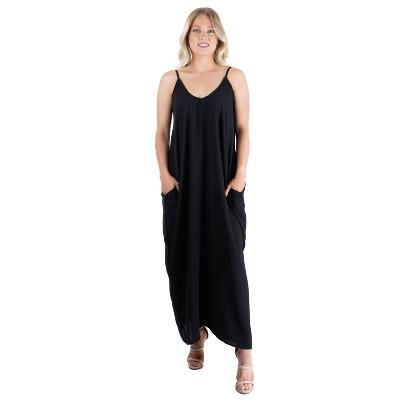 24seven Comfort Apparel Women's Spaghetti Strap Maxi Dress