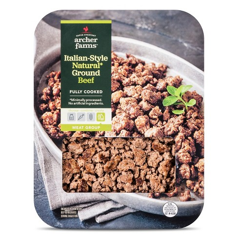 Fully Cooked Ground Beef Italian Style - 12oz - Archer Farms™ - image 1 of 1