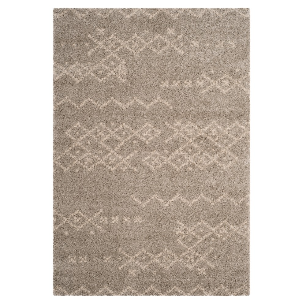 Gray/Ivory Geometric Loomed Area Rug 9'X12' - Safavieh, White Gray