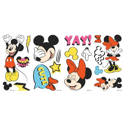 Mickey and Minnie Peel and Stick Wall Decals - RoomMates