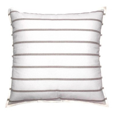 Woven Striped Oversized Square Pillow Neutral/White - Threshold™