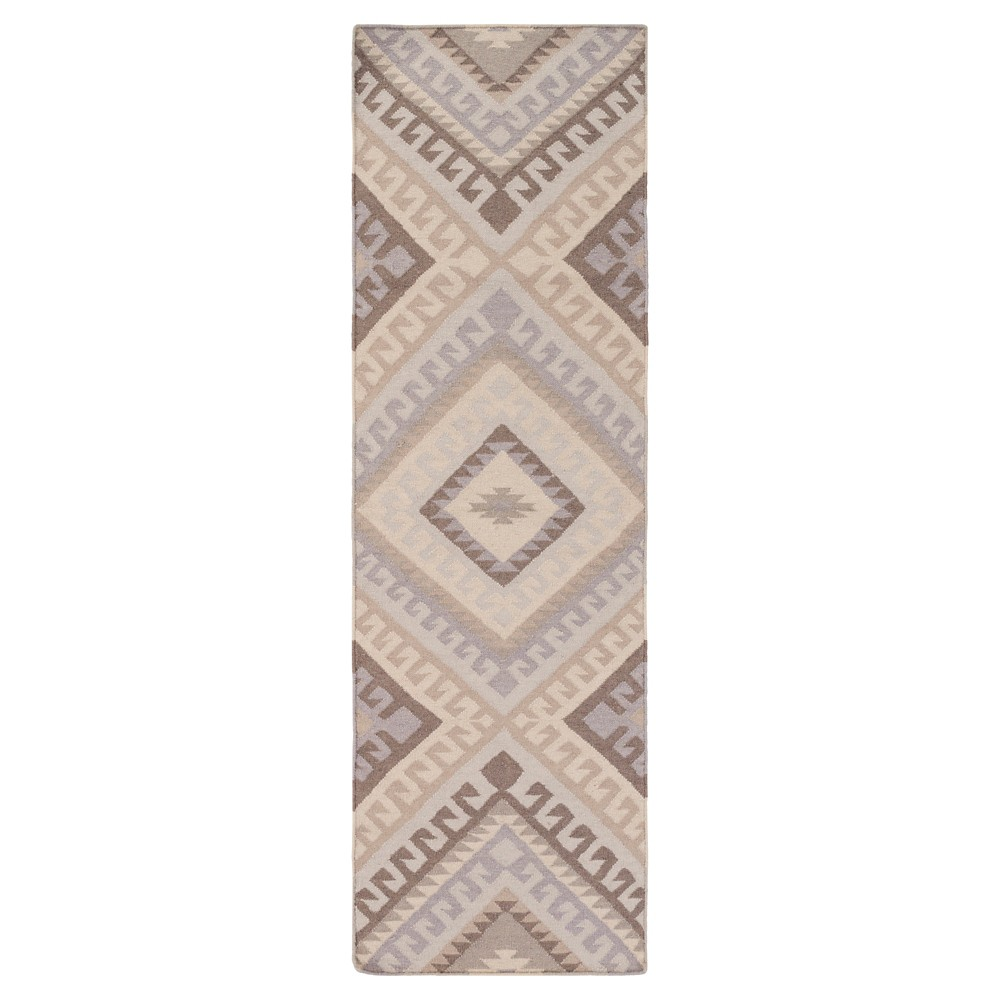 Gray Solid Woven Runner - (2'6X8' Runner) - Surya, Medium Gray