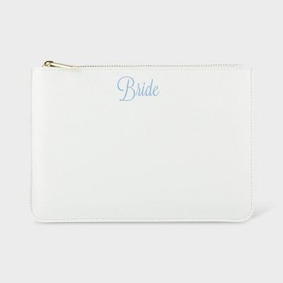 """Bride"" Vegan Leather Clutch White"