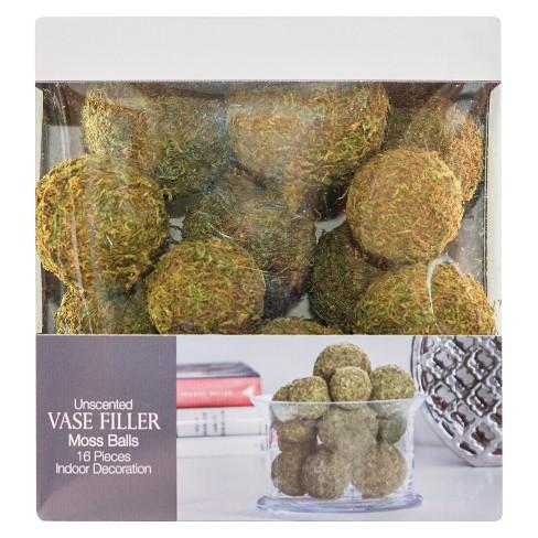 Moss Ball Vase Filler 16pc Green Lloyd Hannah Target