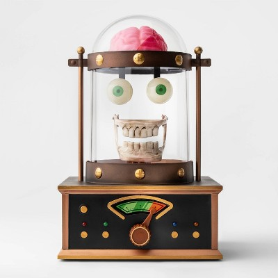 Animated Talking Skull in Cloche Halloween Décor - Hyde & EEK! Boutique™