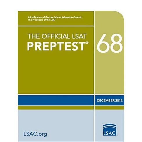 The Official LSAT Preptest 68 - (Official LSAT PrepTest) (Paperback) - image 1 of 1