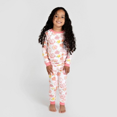Burt's Bees Baby® Toddler Girls' Floral Organic Cotton Snug Fit Pajama Set - Pink