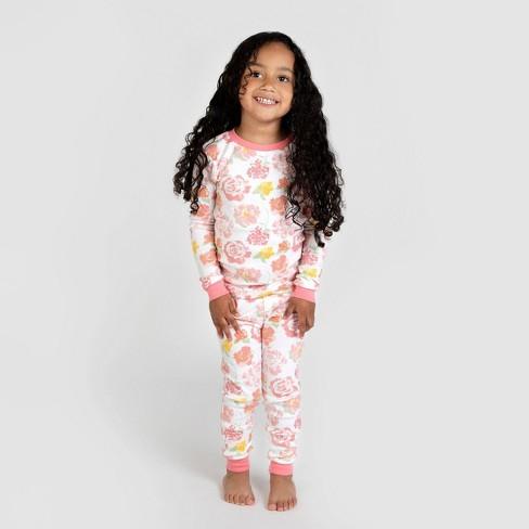Burt's Bees Baby® Toddler Girls' Rosy Spring Organic Cotton Pajama Set - Pink 3T - image 1 of 2