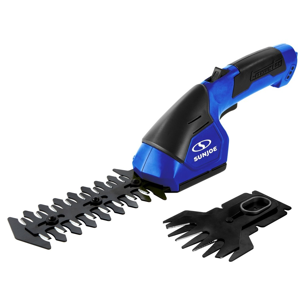 Sun Joe 2 - In - 1, 7.2 Volts, 2.88 Cordless Grass Shear With Hedge Trimmer - Blue