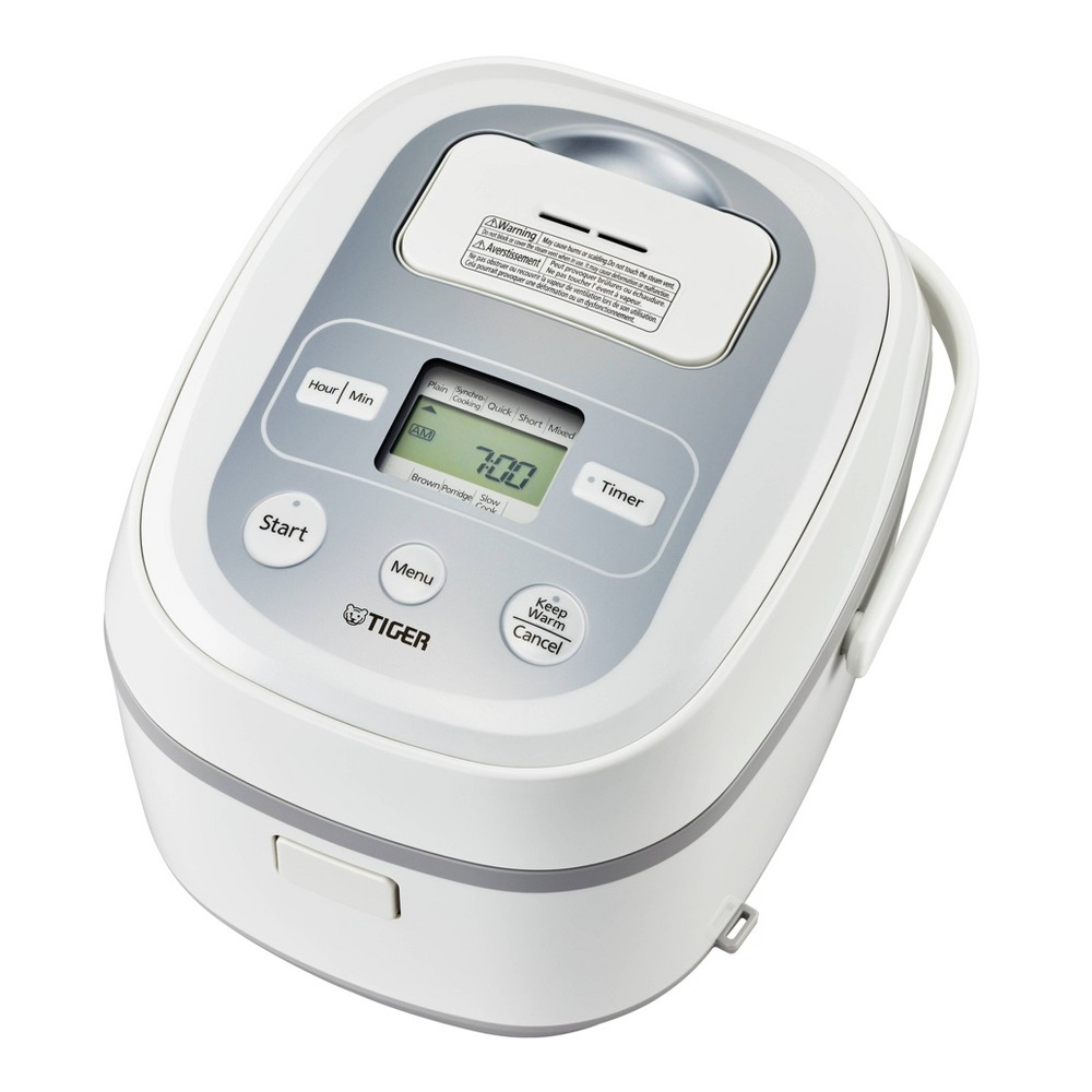 Image of Micom 10-Cup Rice Cooker with Tacook Cooking Plate - White