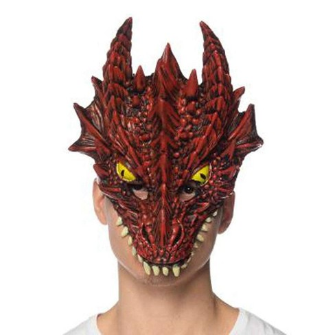 HMS Supersoft Red Dragon Adult Costume Mask - image 1 of 1